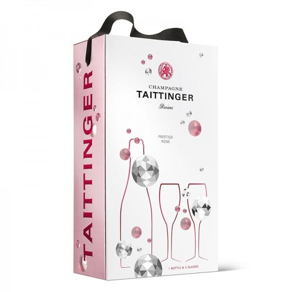 TAITTINGER PRESTIGE ROSE+2 FLUTES